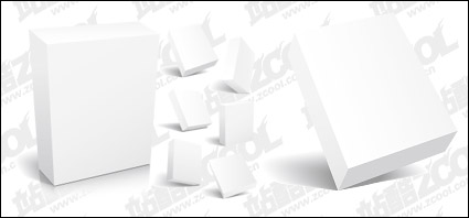 Link to3d box blank template vector material