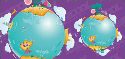 Link toEarth leisure vector illustration material