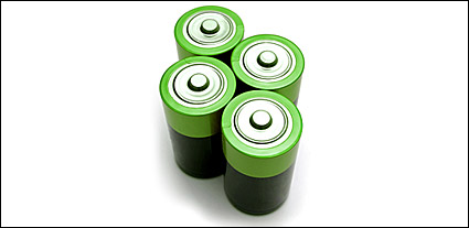Green image of the battery material
