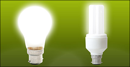 Energy-saving lamps picture material-3