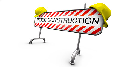 3D construction material roadblocks picture
