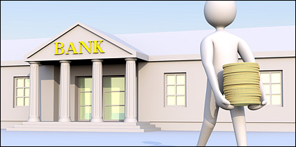 3D banks to move money from the little picture material