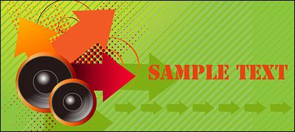 Link toSpeaker arrow points vector material