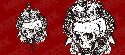 Link toBlack and white skull vector material