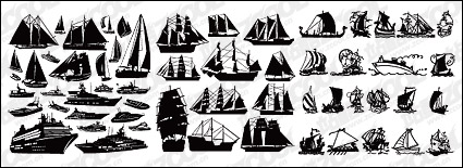 Link toA number of sailing vessels vector-cut material