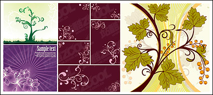 Link toFlower patterns of plant material vector