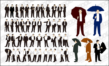 Link toThe action of various business men vector material