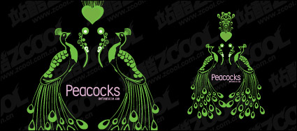 Link toVector peacock green material