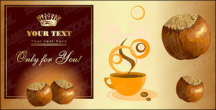 Link toChestnut and coffee theme vector material