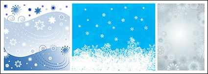 Link toChristmas snowflakes vector background material