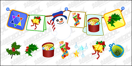 Link toPractical christmas decorations design vector material