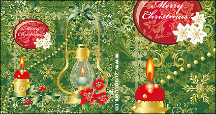 Link toCandlelight christmas decoration pattern vector material