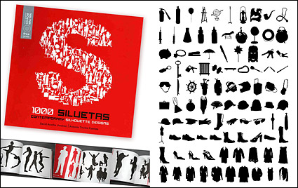 Link to1000 album various silhouette vector material-8
