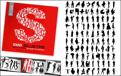 Link to1000 album various silhouette vector material-5