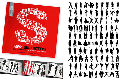 Link to1000 album various silhouette vector material-4