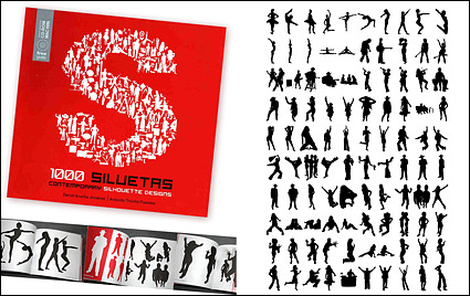 Link to1000 album various silhouette vector material-3