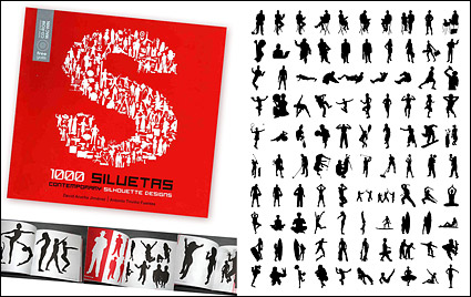 Link to1000 album various silhouette vector material-2