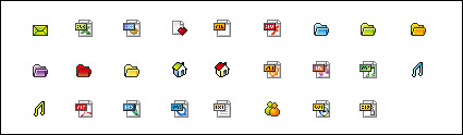 Sophisticated pixel web design commonly used small icon gif material