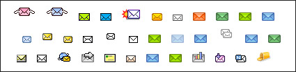The theme of a variety of envelope material gif