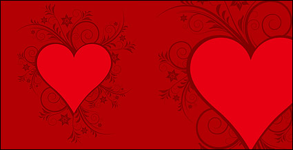 Link toRed heart-shaped pattern vector material