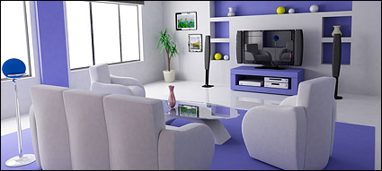 Beautiful home interior picture material-17