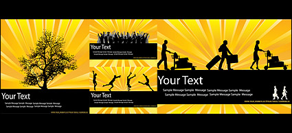 Link toYellow-black color trend silhouette vector material