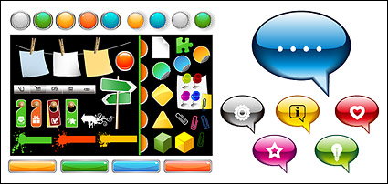 Link toWeb design element vector material commonly used buttons