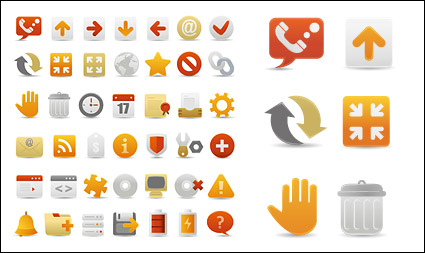 Link toA set of beautiful web design decorative icon