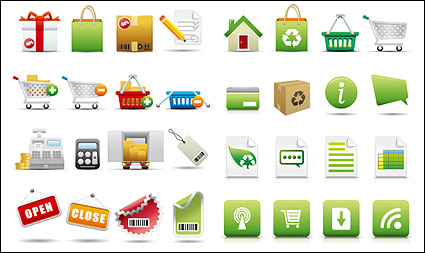Link toExquisite shopping category icon vector material