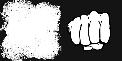 Link toFists and material ink border vector