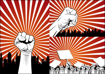 Link toFists protest series vector material