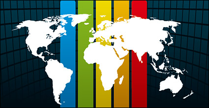 Link toSpaces rainbow background material line vector map of the world
