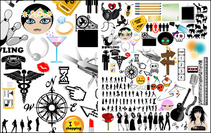 Link toSet the trend of design elements vector material