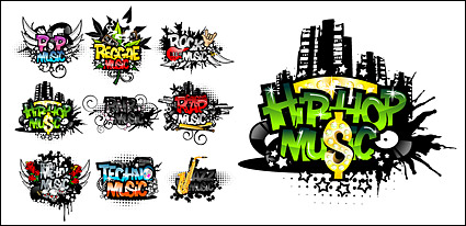 Link toThe trend of musical elements vector material