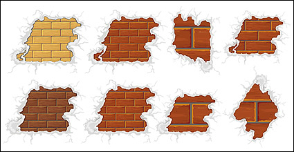 Link toSurrounded by snow-brick vector material