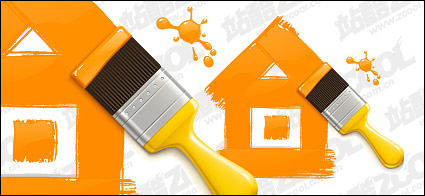 Link toTraces of paint and paint brushes vector material