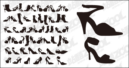 Link toVariety of fashion shoes for women silhouette vector material