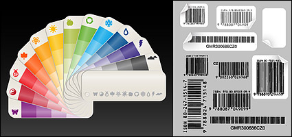 Link toColor paper card with bar code vector material
