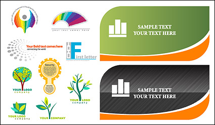 Link toCards and logo template vector material