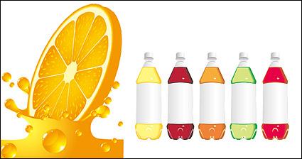 Link toOrange juice bottles and empty vector material