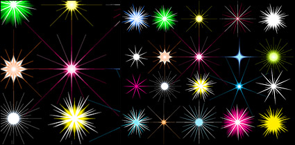 Link toStars shining color vector material