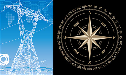 Link toHigh-voltage wire racks and compass vector material