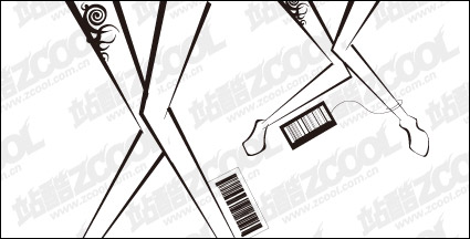 Link toFemale legs with bar code tag vector material