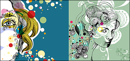 Link toThe trend of female illustrator vector material