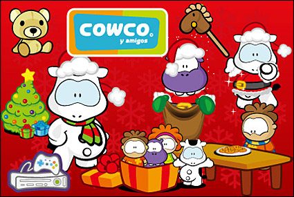 Link toCute cartoon characters cowco christmas vector subject material