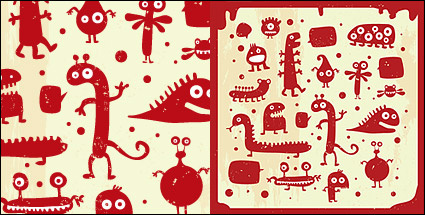 Link toLovely small monster vector material