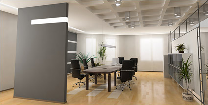 Bright picture material meeting Room