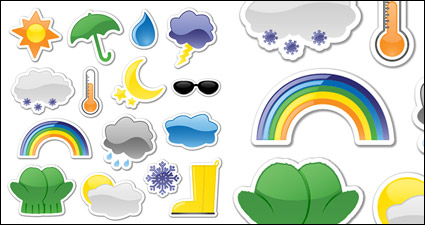 Link toIcon style vector stickers weather material