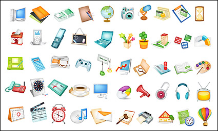 Link toUseful items commonly used icon vector material