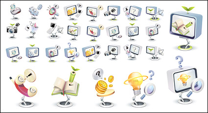 Link toHigh-tech three-dimensional icon style vector material-3